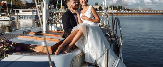 Charter a yacht to commemorate your union