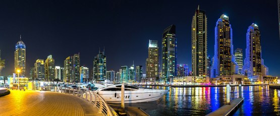 Yachting at Night in Dubai