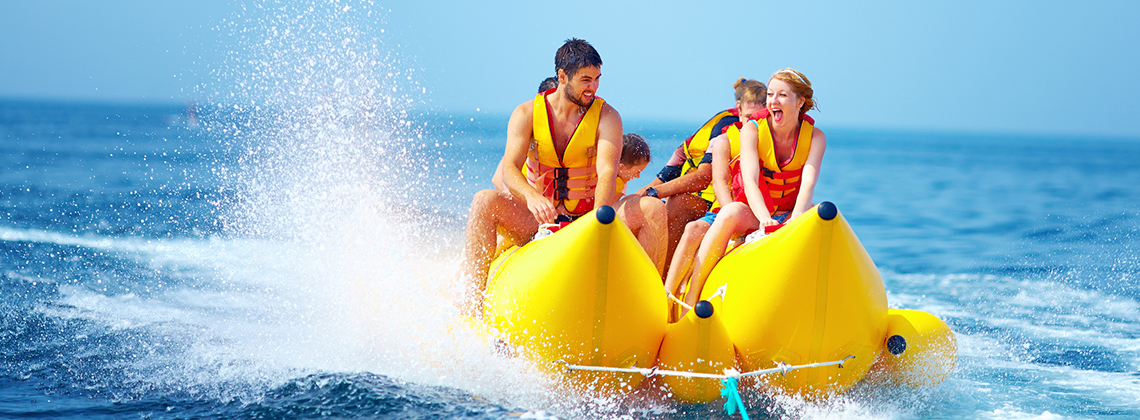 The Banana Boat is the best watersport to ever grazed on the ocean waters